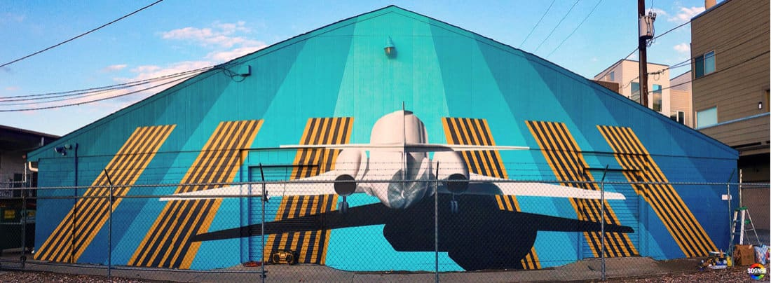 Taking Flight - Mural -Rino, Denver 2017