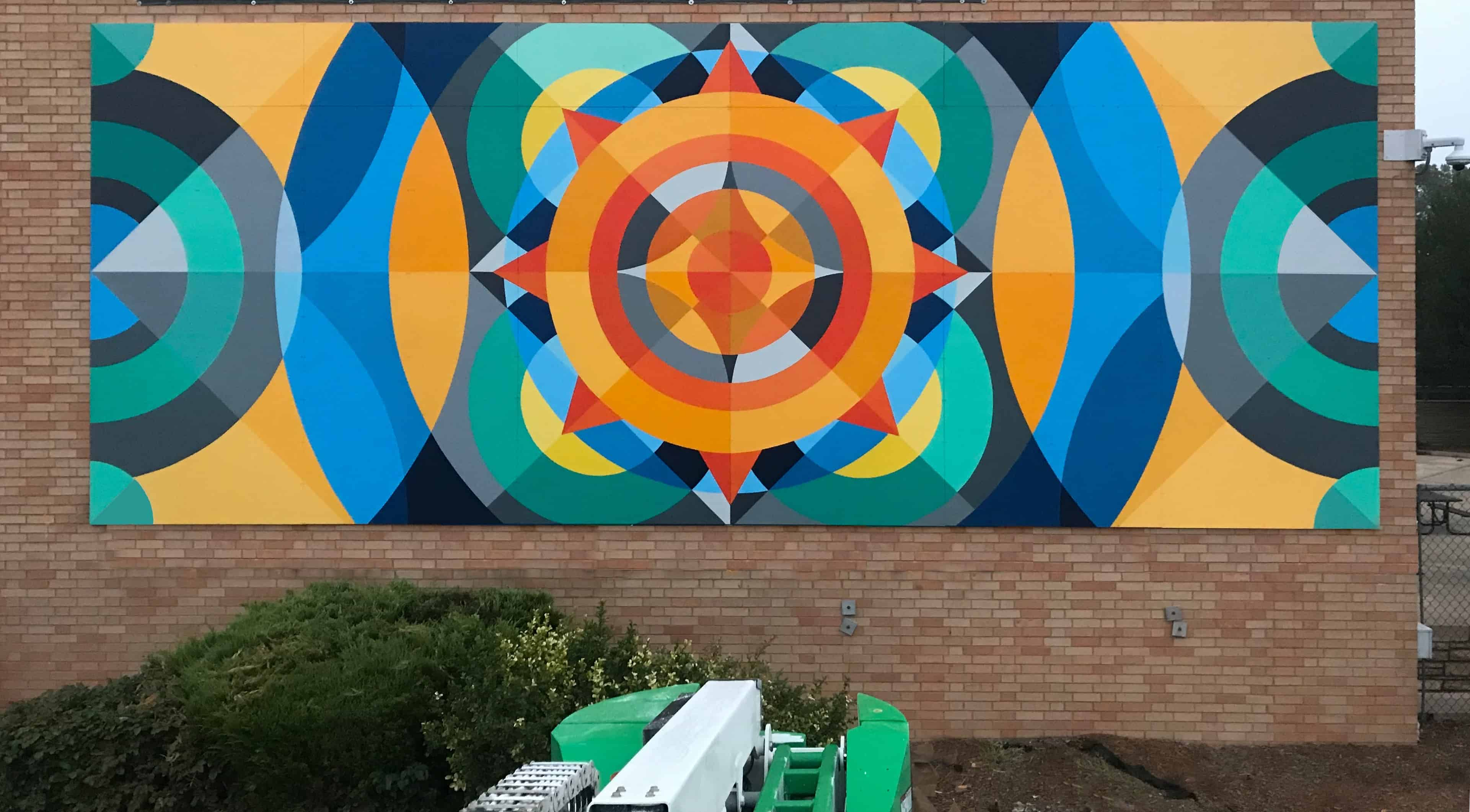 Life Water, Canvas for Change, Abraham Lincoln High School, Public Art, Mural