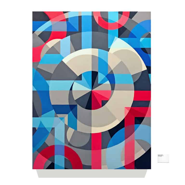 Geometric abstract painting by contemporary artist Jason T. Graves