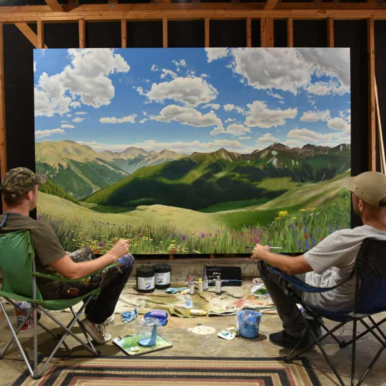 Landscape painting created by Jason T. Graves and Remington Robinson