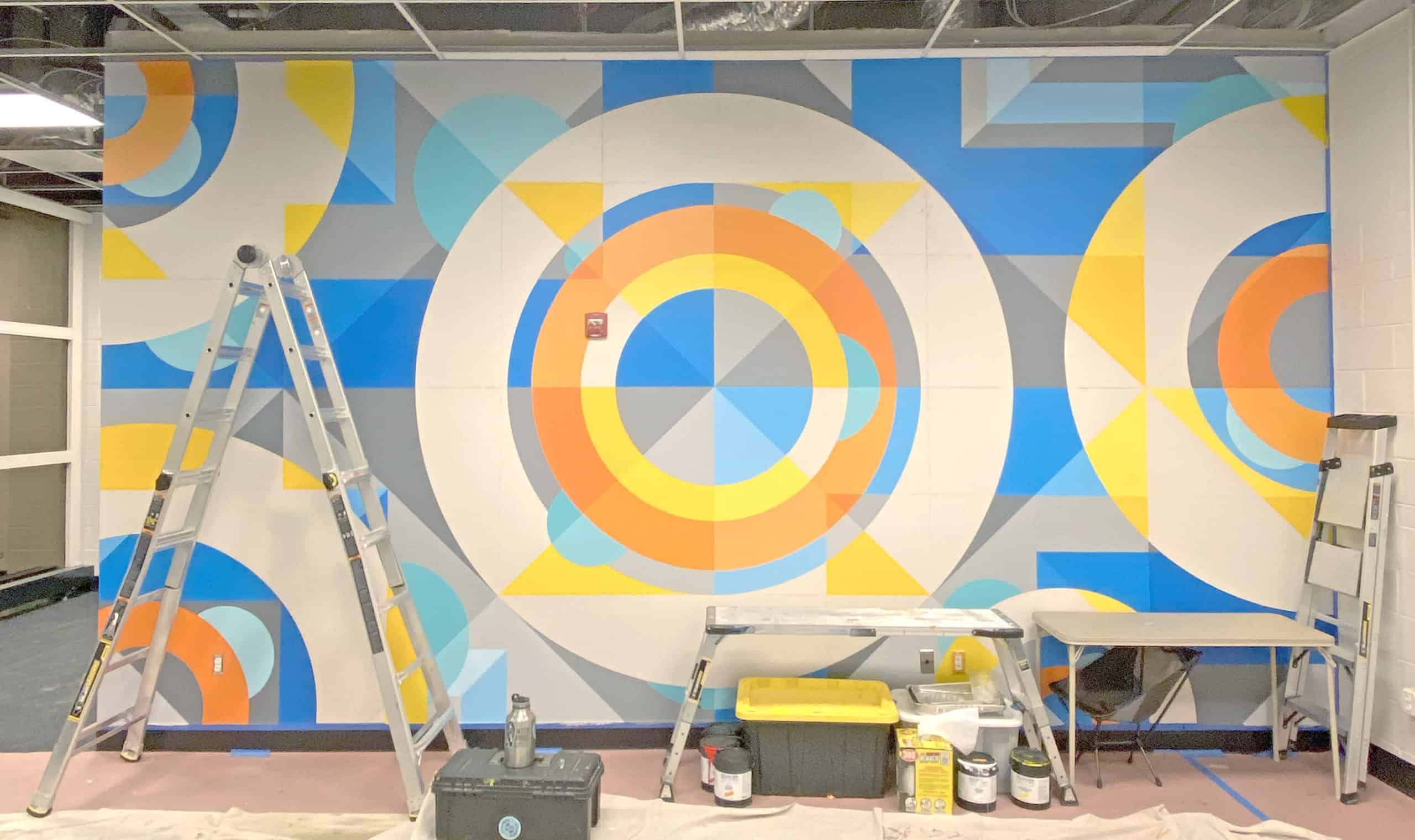 Jason T. Graves, Denver Post, Denver Murals, Geometric, Interior Design, Street Art