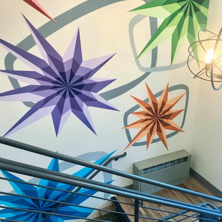 Mural painted for Metro West Housing by Jason T. Graves