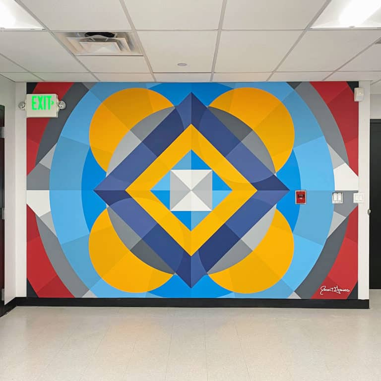 #canvasforchange Mural painted by Denver street artist Jason T. Graves for Pepsi Life Water at Justice High School