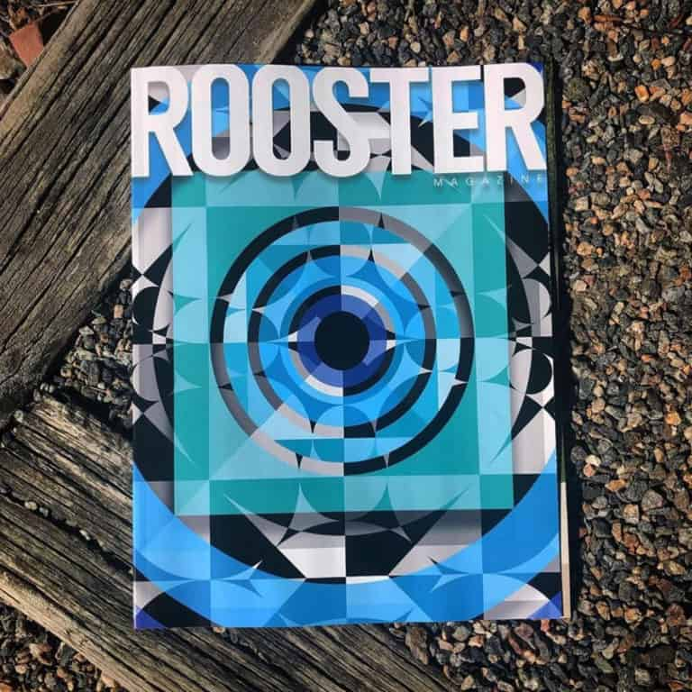 Rooster Magazine cover and featured artist Jason T. Graves