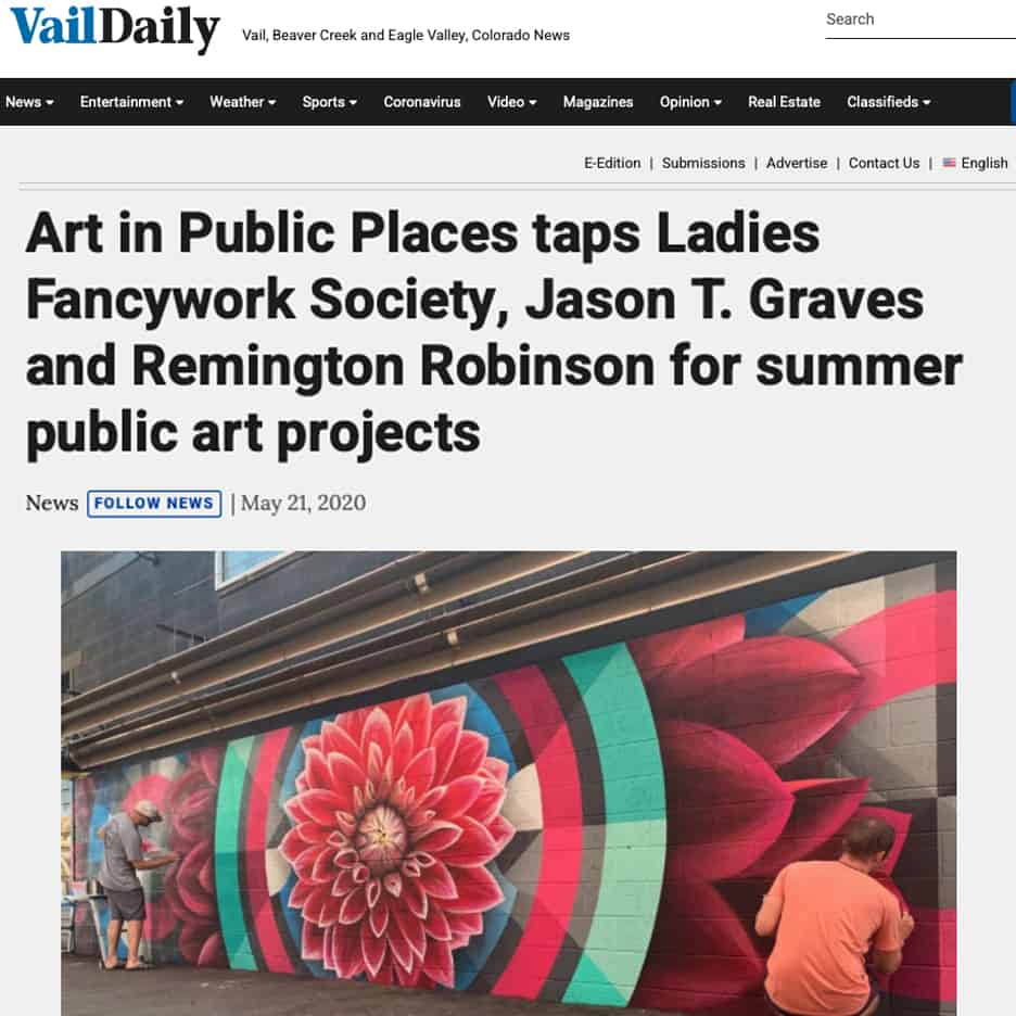 Art in Public Places taps Jason T. Graves and Remington Robinson for summer public art projects