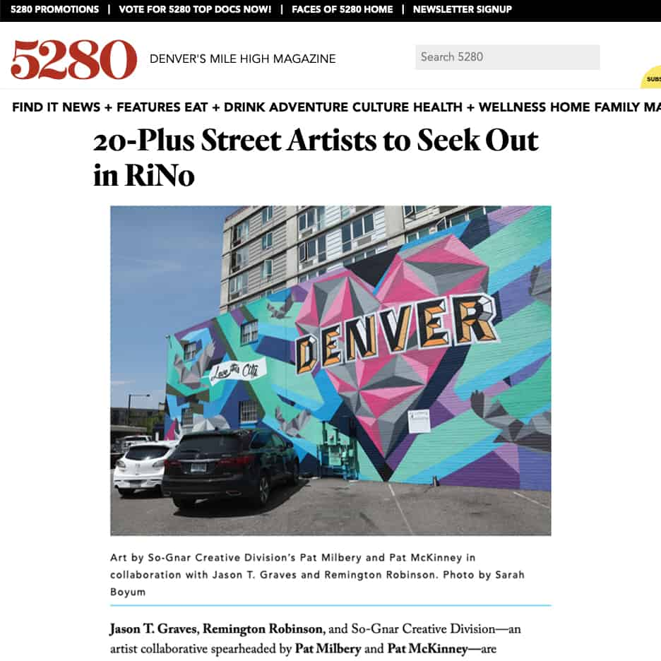 5280 Magazine, 20-Plus Street Artists to Seek Out in RiNo