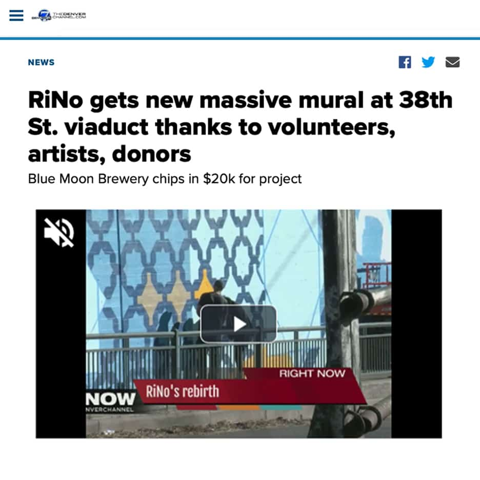 RiNo gets new massive mural at 38th St. viaduct thanks to volunteers, artists, donors