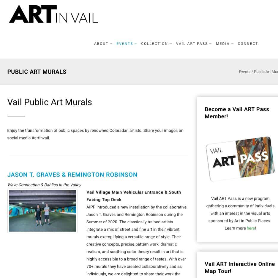 Art in Vail, Vail Public Art Murals