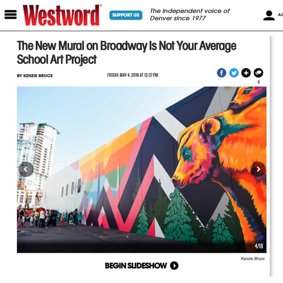 Westword Magazine, The New Mural on Broadway Is Not Your Average School Art Project