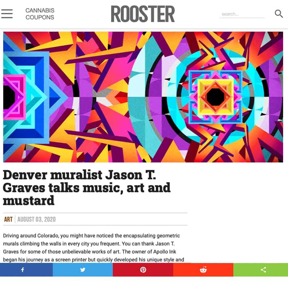 Roster Magazine, Denver muralist Jason T. Graves