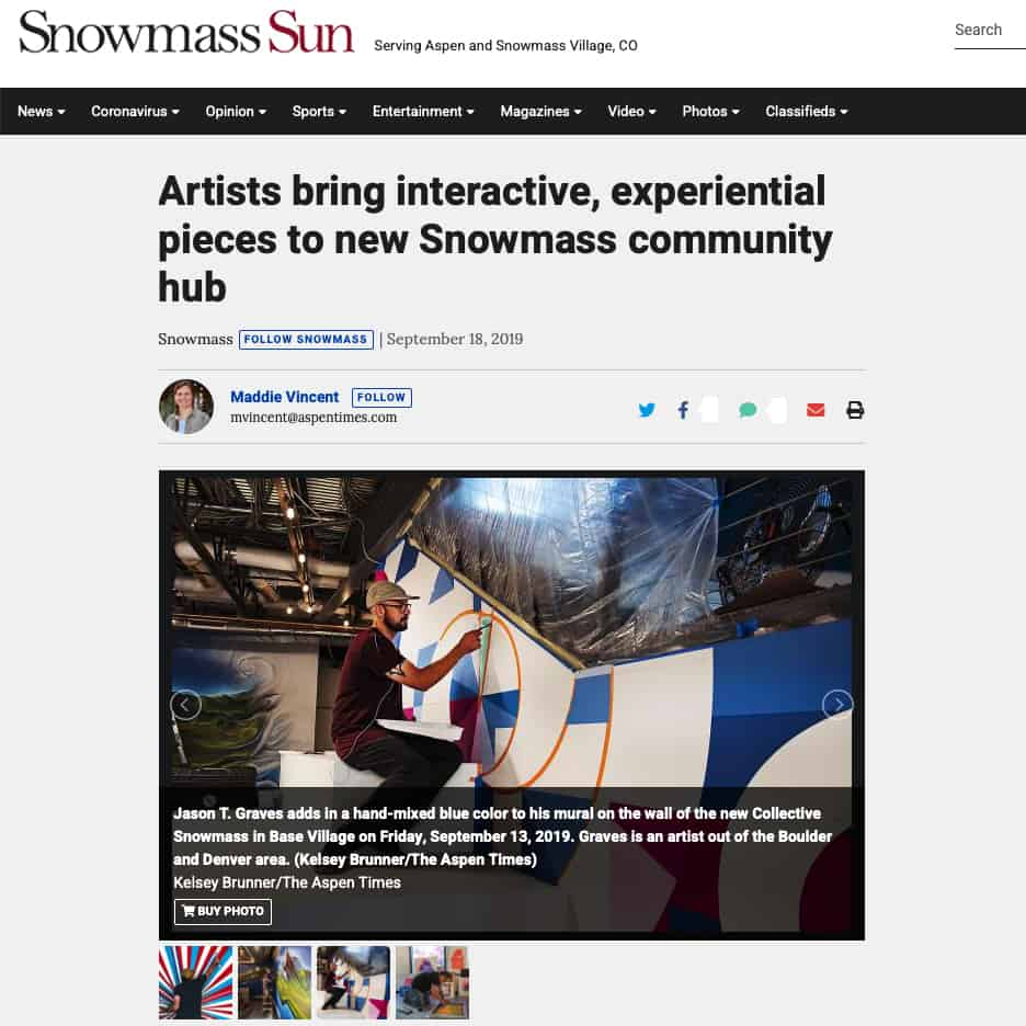 Snowmass Sun, Artists bring interactive, experiential pieces to new Snowmass community hub