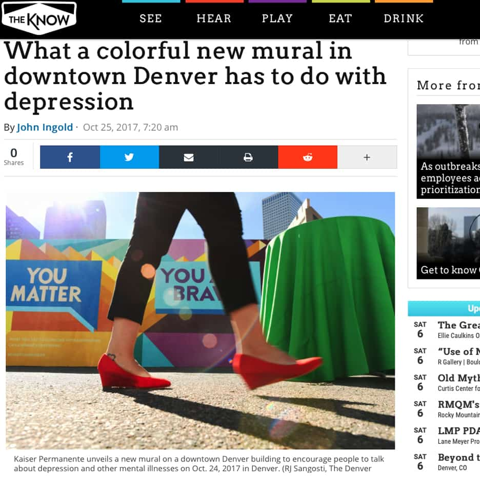What a colorful new mural in downtown Denver has to do with depression