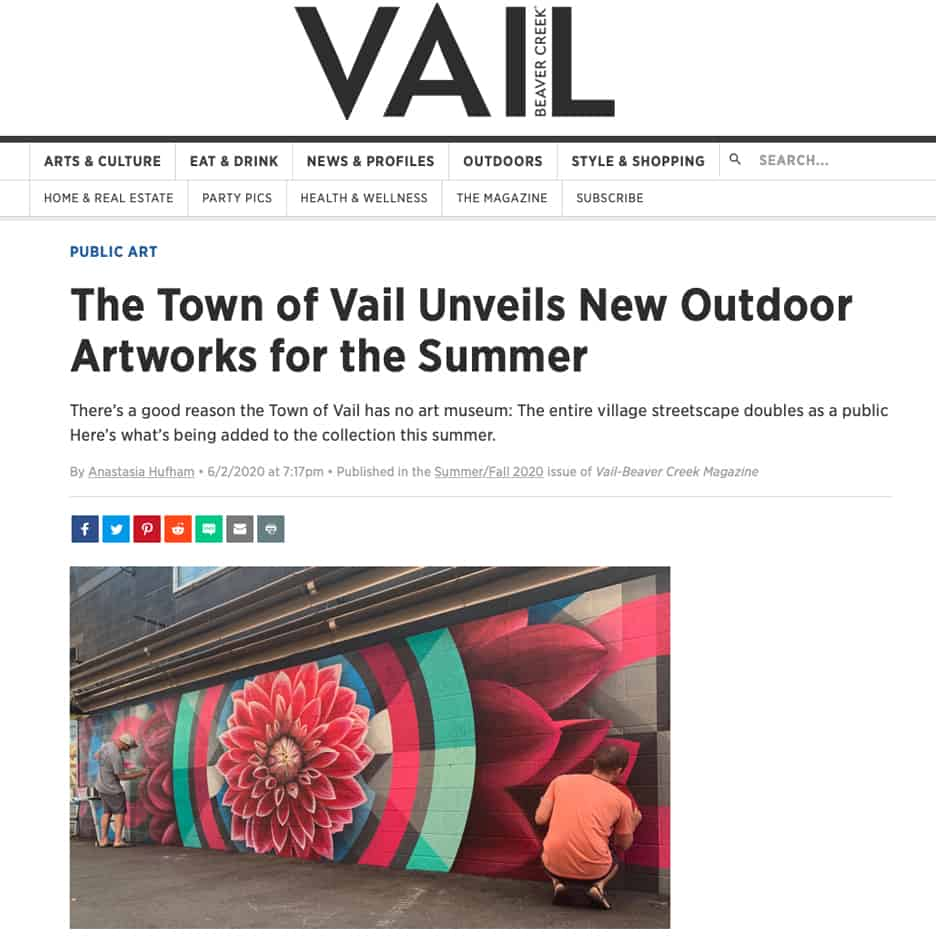 Vail Magazine, The Town of Vail Unveils New Outdoor Artworks for the Summer