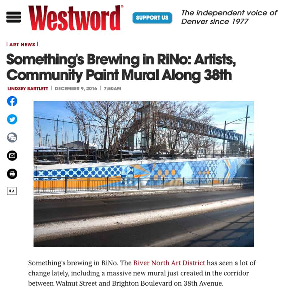 Something's Brewing in RiNo: Artists, Community Paint Mural Along 38th
