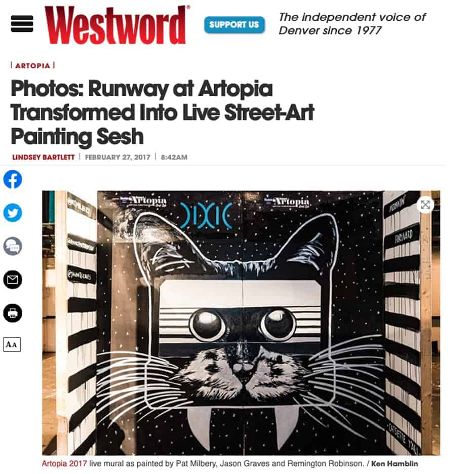 Westword Magazine, Photos: Runway at Artopia Transformed Into Live Street-Art Painting Sesh