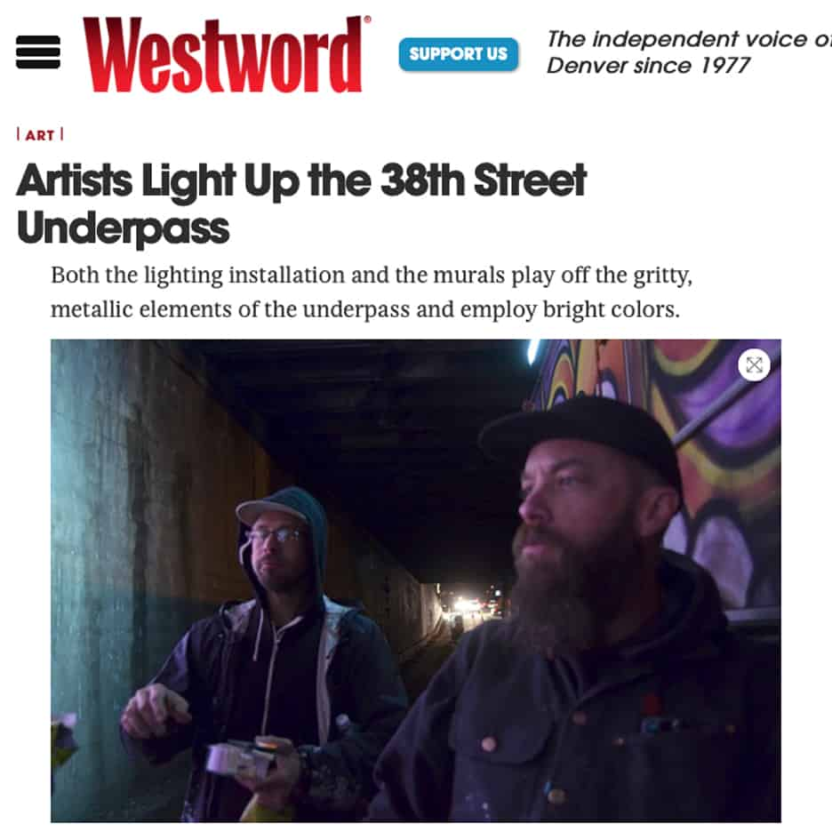Westword magazine, Artists Light Up the 38th Street Underpass