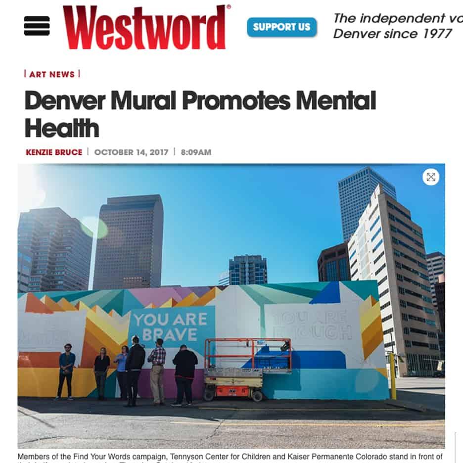 Denver Mural Promotes Mental Health